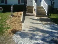 After escavation concrete