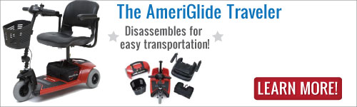 AmeriGlide Travel Scooter - Quickly disassembles for easy transport