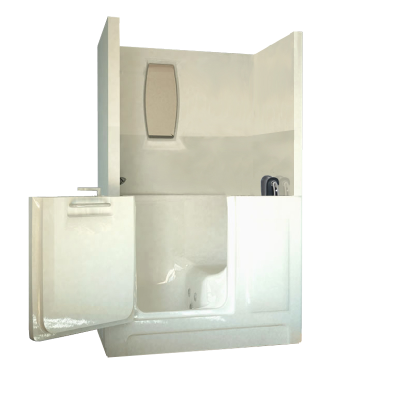 Medium Shower Enclosure Walk-In Tub