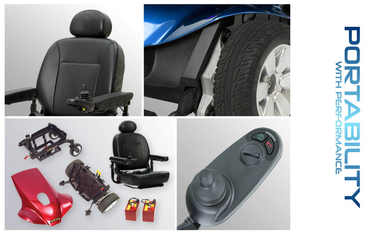 Power Wheelchairs Pride Jazzy Elite Portable