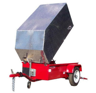 Aluminum Trailer Cover - Large Size - Tall