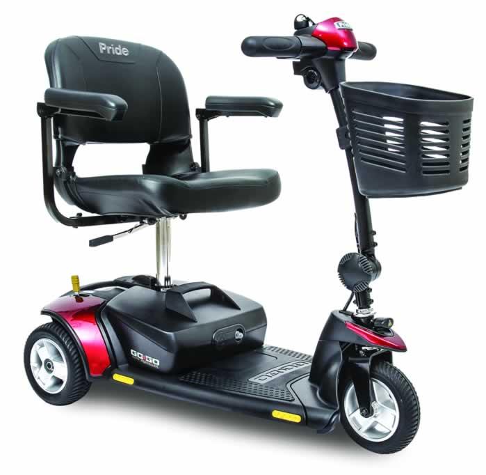 Pride Go-Go Elite Traveller 3-Wheel Mobility Scooter SC40E